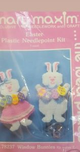 Mary Maxim Easter Plastic #78237 Needle Point Kit